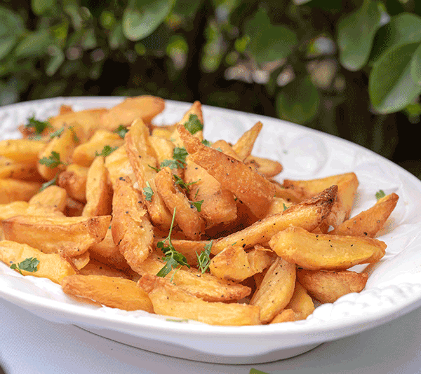 Giant potatoes chips baked in duck fat